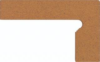 Sokl k florentinské schodovce Gresan Albarracin pravý 40x25 cm mat GRASCSKFP4230 oranžová cihlová