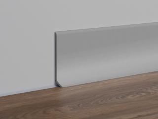 Soklová lišta PVC stříbrošedá, délka 250 cm, výška 40 mm, SKPVCST šedá stříbrošedá