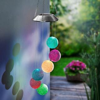 Solární závěsná dekorace hra barev