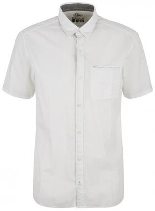 s.Oliver Pánská košile 03.899.22.7706.0100 White XXL
