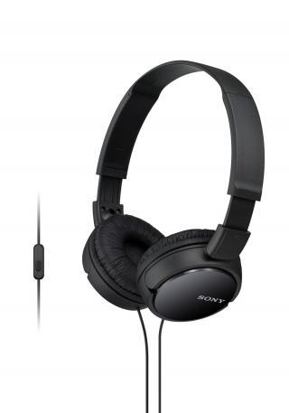 SONY sluchátka MDR-ZX110AP handsfree, černé