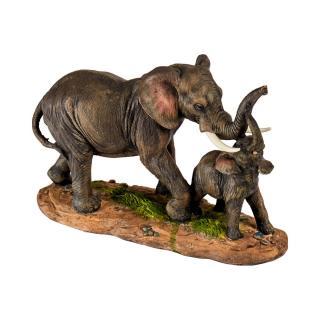 Soška sloní máma se slůnětem