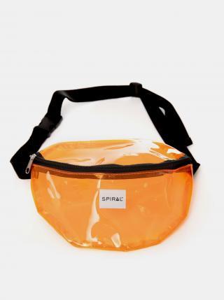 Spiral oranžová transparentní ledvinka dámské