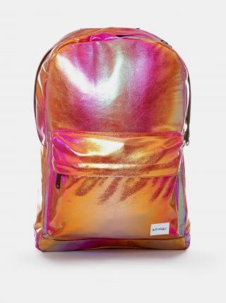 Spiral růžový metalický batoh dámské růžová