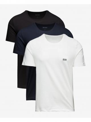 Spodní triko 3 ks BOSS pánské černá L