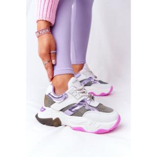 Sport Shoes On A Chunky Sole GOE HH2N4038 White-Violet dámské Neurčeno 38