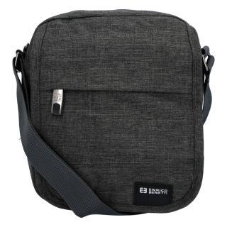 Sportovní crossbody taška na doklady tmavě šedá - Enrico Benetti pánské