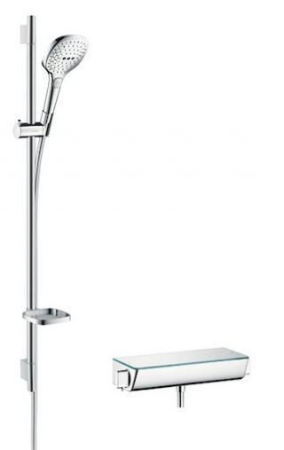 Sprchová baterie Hansgrohe Raindance Select E se sprchovým setem 150 mm bílá/chrom 27039400 ostatní bílá