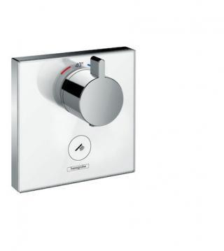 Sprchová baterie Hansgrohe Showerselect Glass bez podomítkového tělesa bílá/chrom 15735400 bílá bílá