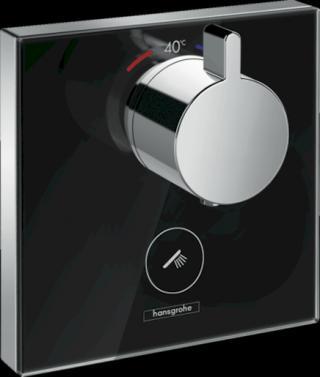 Sprchová baterie Hansgrohe Showerselect Glass bez podomítkového tělesa černá/chrom 15735600 černá černá