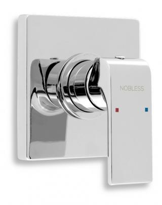 Sprchová baterie Novaservis Nobless Sharp včetně podomítkového tělesa chrom 37050.0 chrom chróm