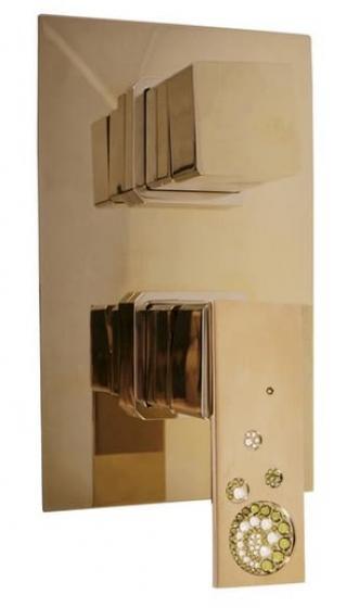 Sprchová baterie RAV SLEZÁK s přepínačem zlatá ROYAL1086Z ostatní zlatá