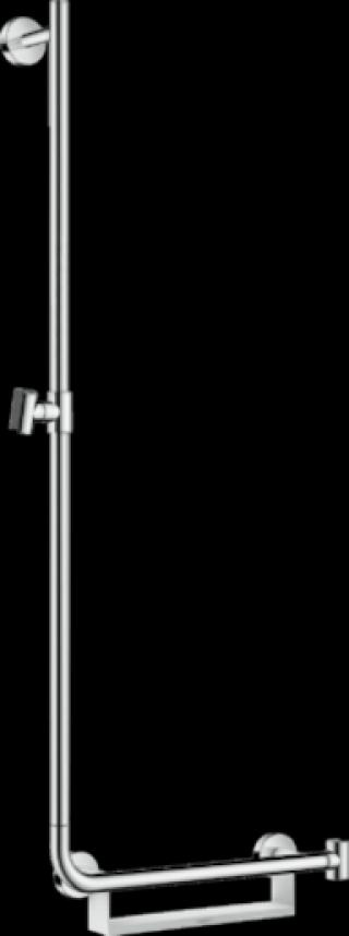 Sprchová tyč Hansgrohe Unica s mýdlenkou bílá/chrom 26403400 ostatní bílá