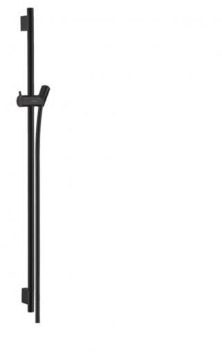Sprchová tyč Hansgrohe Unica S se sprchovou hadicí matná černá 28631670 černá matná černá