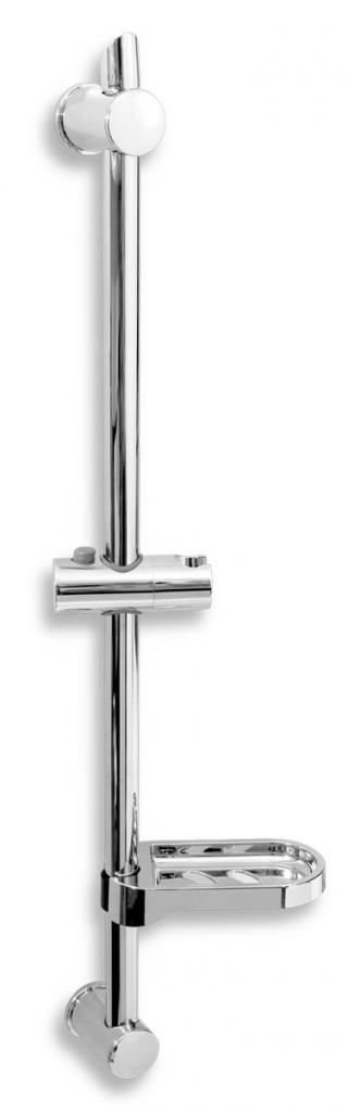 Sprchová tyč Novaservis na stěnu s držákem sprchy chrom RAIL601,0 chrom chrom