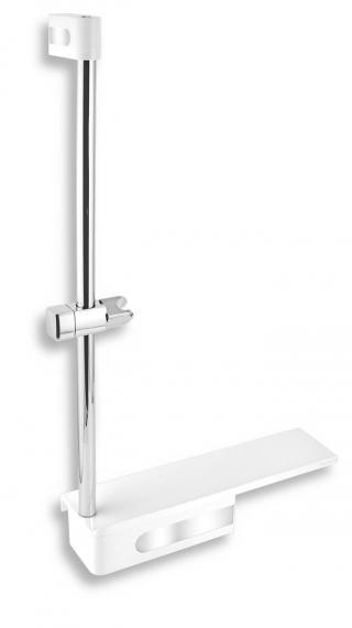 Sprchová tyč Novaservis na stěnu s poličkou nerez 65586,4 ostatní nerez