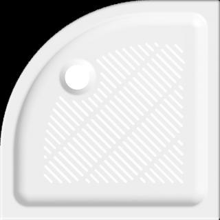 Sprchová vanička čtvrtkruhová Jika 80x80 cm keramika 8.5272.3.000.000.3 bílá