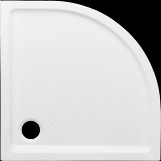 Sprchová vanička čtvrtkruhová Multi Abs 80x80 cm akrylát ABSNEW80S bílá bílá