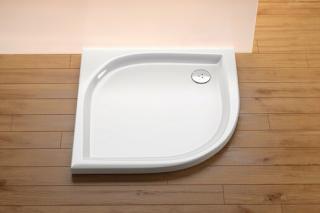 Sprchová vanička čtvrtkruhová Ravak Elipso 80x80 cm akrylát A224401310 bílá bílá