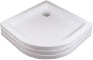 Sprchová vanička čtvrtkruhová Ravak Ronda 80x80 cm akrylát A204001120 bílá bílá