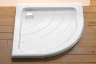 Sprchová vanička čtvrtkruhová Ravak Ronda 80x80 cm akrylát A214001220 bílá bílá