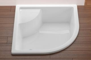 Sprchová vanička čtvrtkruhová Ravak Sabina 80x80 cm akrylát A214001020 bílá bílá