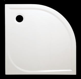 Sprchová vanička čtvrtkruhová Siko Flat 90x90 cm akrylát FLA90S bílá bílá