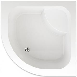 Sprchová vanička čtvrtkruhová Teiko Argo 90x90 cm akrylát V131090N32T08001 bílá bílá