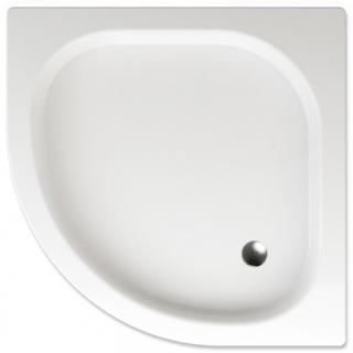 Sprchová vanička čtvrtkruhová Teiko Gomera 80x80 cm akrylát V131080N32T03001 bílá bílá