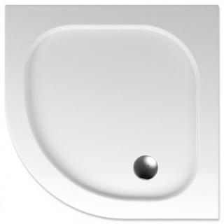 Sprchová vanička čtvrtkruhová Teiko Peleus 90x90 cm akrylát V131090N32T06001 bílá bílá