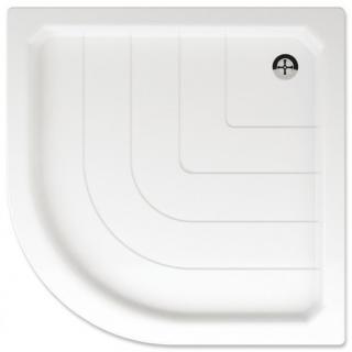 Sprchová vanička čtvrtkruhová Teiko Sano 80x80 cm akrylát V131080N32T02001 bílá bílá