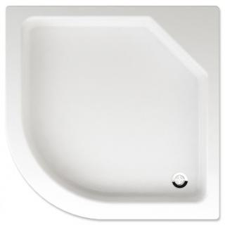 Sprchová vanička čtvrtkruhová Teiko Taurus 90x90 cm akrylát V131090N32T01001 bílá bílá