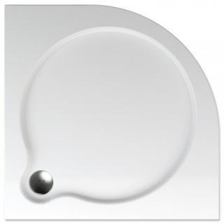 Sprchová vanička čtvrtkruhová Teiko Vesta 80x80 cm akrylát V131080N32T06001 bílá bílá