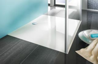 Sprchová vanička obdélníková Huppe Easystep 140x90 cm litý mramor 215120.055 bílá bílá