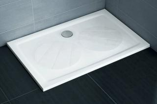 Sprchová vanička obdélníková Ravak Gigant 110x80 cm litý mramor XA03D401010 bílá bílá