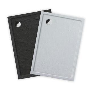 Sprchová vanička obdélníková Roth 130x80 cm akrylát antracit 8000332 černá antracit