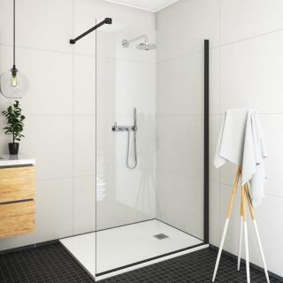 Sprchová zástěna walk-in 100x207,5 cm Roth ECWALK černý 585-1000000-05-02 černá černý elox