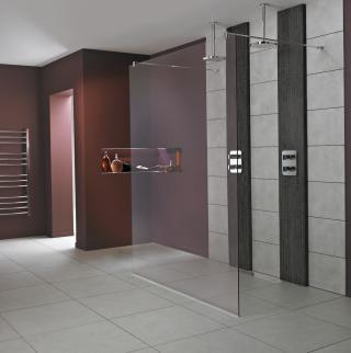 Sprchová zástěna walk-in 80x202 cm Ideal Standard Wetroom chrom lesklý L6222EO lesklá stříbrná