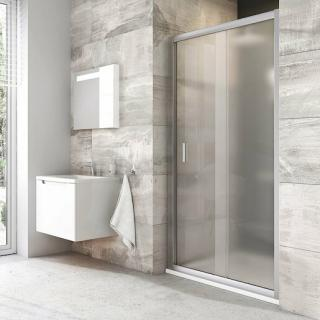 Sprchové dveře 100x190 cm Ravak Blix chrom matný 0PVA0U00ZG satin