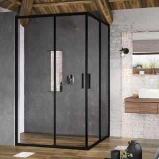 Sprchové dveře 100x190 cm Ravak Blix Slim černý lesklý X1XMA0300Z1 Černá