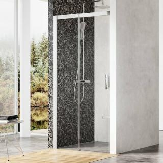 Sprchové dveře 100x195 cm levá Ravak Matrix chrom matný 0WLA0U00Z1 satin