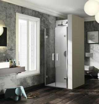 Sprchové dveře 100x200 cm Huppe Solva pure chrom lesklý ST3303.092.322 chrom chrom