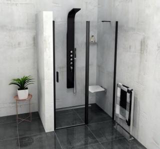 Sprchové dveře 100x200 cm Polysan Zoom černý profil ZL1310B chrom