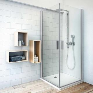 Sprchové dveře 100x201,2 cm Roth Tower Line chrom matný 727-1000000-01-02 stříbro
