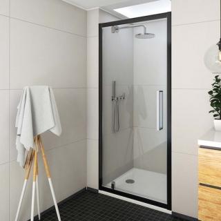 Sprchové dveře 100x205 cm Roth Exclusive Line černá matná 562-1000000-05-02 černý elox