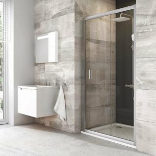 Sprchové dveře 110x190 cm Ravak Blix chrom matný 0PVD0U00Z1 satin