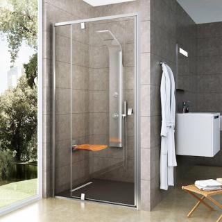 Sprchové dveře 110x190 cm Ravak Pivot chrom matný 03GD0U00Z1 satin