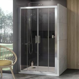 Sprchové dveře 120x190 cm Ravak 10° chrom matný 0ZKG0U00Z1 satin
