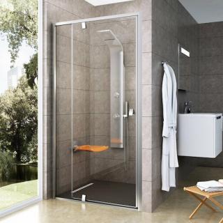 Sprchové dveře 120x190 cm Ravak Pivot chrom matný 03GG0U00Z1 satin