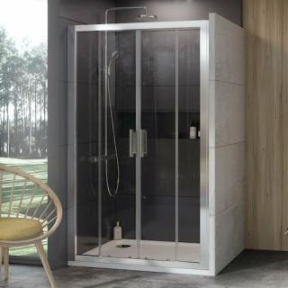 Sprchové dveře 130x190 cm Ravak 10° chrom matný 0ZKJ0U00Z1 satin